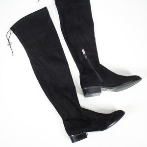 Sam Edelman Black Suede Over The Knee Boots 8.5